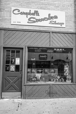 Photograph - Campbell's Smoke Shop Black And White  by John McGraw