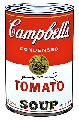 Harlem Digital Art - Campbells Soup I, Tomato Soup 46, Signed by Andy Warhol