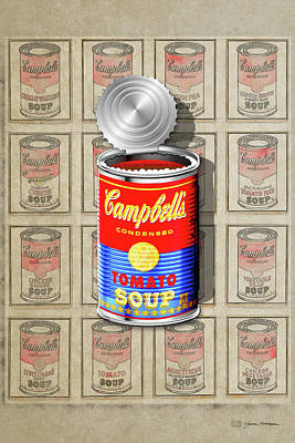 Campbell's Soup Revisited - Red And Blue   Original by Serge Averbukh