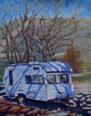 Painting - Camper At Camelback Park by Les Herman