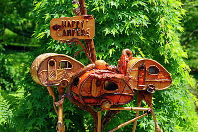 Photograph - Camper Decorations by Sally Weigand