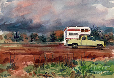 Pacific Coast Highway Painting - Camper On Pacific Coast Highway by Donald Maier