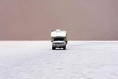 Photograph - Camper Van On Salar De Uyuni, Bolivia by Aidan Moran