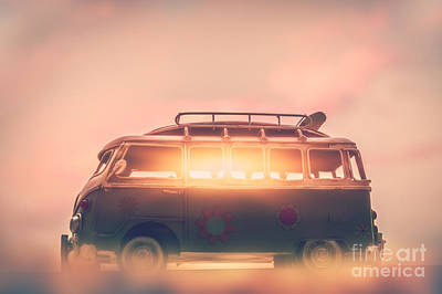Photograph - Campervan On Sunset by Anna Om