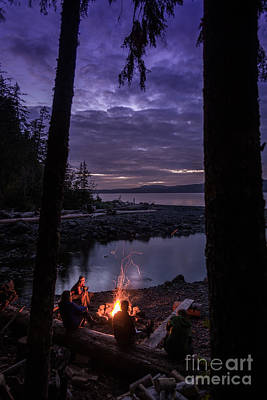 Campfire @ Orca Camp Art Print by Dragonfly 'n' Brambles Imagery