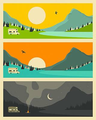 Campfire 2 Art Print