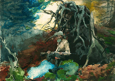 Painting - Campfire Adirondacks by Winslow Homer