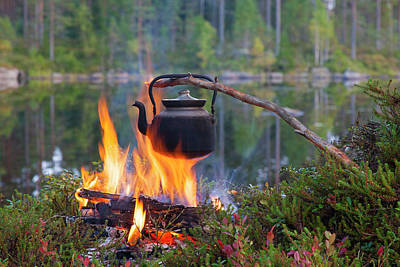 Photograph - Campfire by Arterra Picture Library