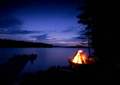 Algonquin Photograph - Campfire by Cale Best