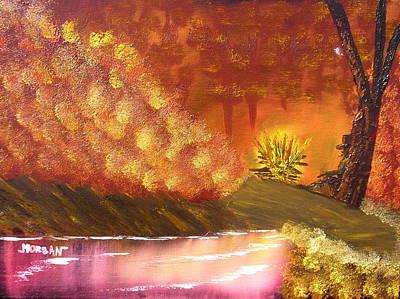 Campfire Art Print by Sheldon Morgan