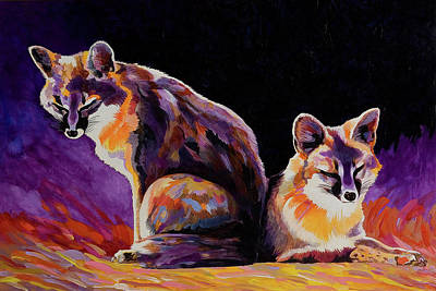 Painting - Campfire Surveillance Team by Bob Coonts