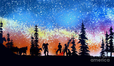 Campfire Tales Art Print by Ed Moore