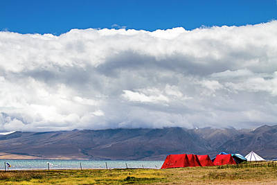 Photograph - Camping At Manasarovar by Hitendra SINKAR