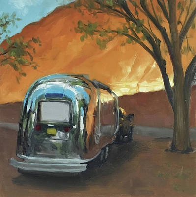 Painting - Camping At The Red Rocks by Elizabeth Jose