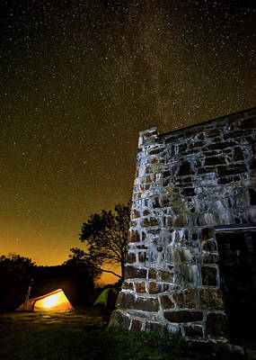 Photograph - Camping At Wyah Bald Lookout Tower by Andy Crawford