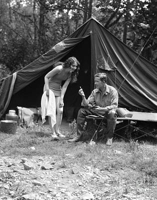 Photograph - Camping Couple, C.1920s by H. Armstrong Roberts/ClassicStock