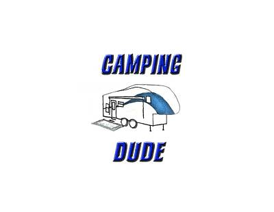 Drawing - Camping Dude by Judy Hall-Folde