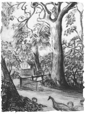 Pathways Drawing - Camping Fun by Leanne Seymour