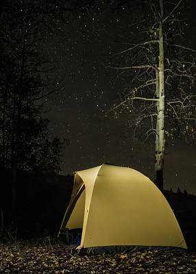 Camping Art Print by Helix Games Photography