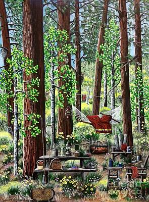 Painting - Camping Paradise by Jennifer Lake