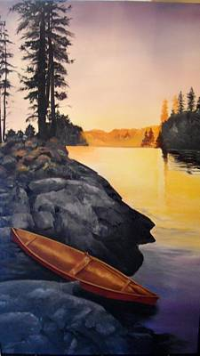 Painting - Camping Scene by Ellen Canfield