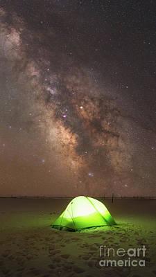 Camping Under The Galaxy  Art Print
