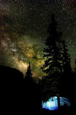 Photograph - Camping Under The Milky Way by Adam Reinhart