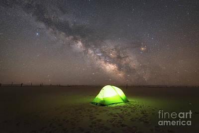 Camping Under The Milky Way Galaxy Art Print