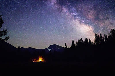 Photograph - Camping Under The Milky Way by Marnie Patchett