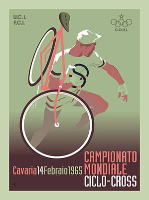 Painting - Campionato Cycling by Gary Grayson