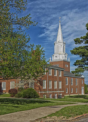 Wesleyan Photograph - Campus Chapel - West Virginia Wesleyan College by Mountain Dreams