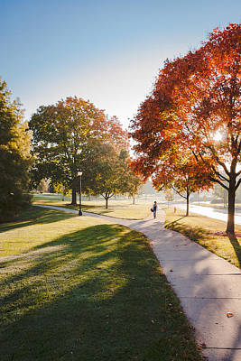 Photograph - Campus On A Frosty Fall Morning by Joni Eskridge