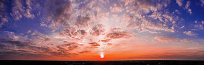 Sunset Photograph - Can Can Rouge by Jason Burke