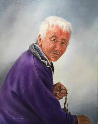 Bhutan Painting - Can I Help? by Richard Ginnett