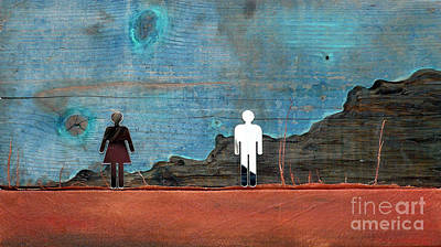 Dating Mixed Media - Can I See You by Jane Clatworthy