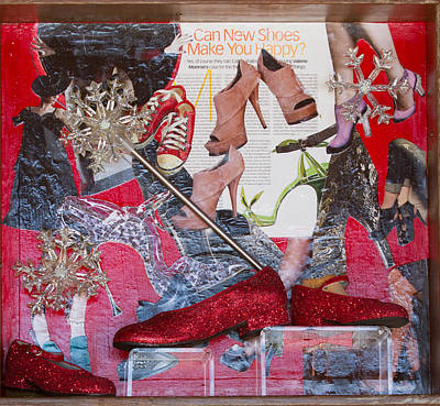 Mixed Media - Can New Shoes Make You Happy by Carmen Williams