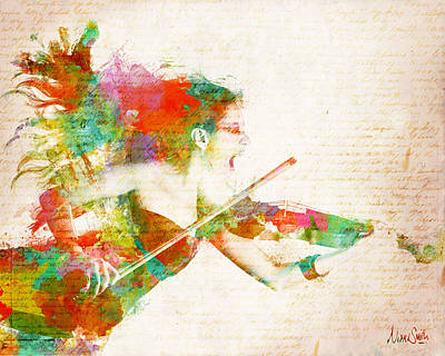 Music Lover Digital Art - Can You Hear Me Now by Nikki Smith