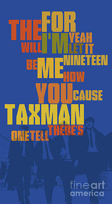 Taxmen Wall Art - Digital Art - Can You Recognize The Song? Poster Game For Music Lovers. Blue And Yellow Art by Drawspots Illustrations