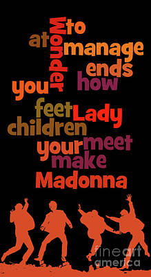 Madonna Digital Art - Can You Recognize The Song? Poster Game For Music Lovers by Pablo Franchi