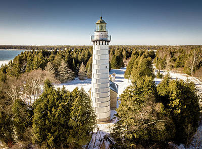 Photograph - Cana Island Lighthouse by Randy Scherkenbach