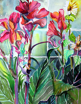 Cana Lily And Daisy Original by Mindy Newman
