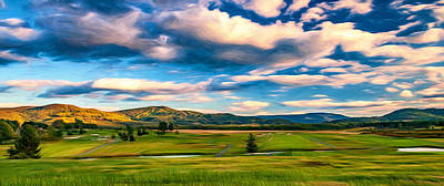 Steve Harrington Digital Art - Canaan Valley Golf And Ski Resort - Paint by Steve Harrington