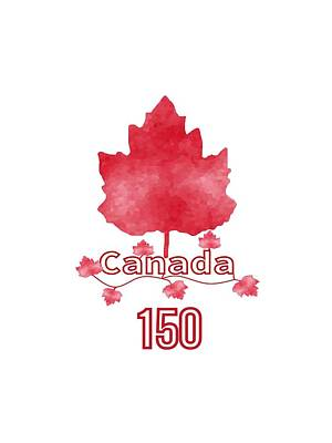 Canadiens Digital Art - Canada 150 by Kathleen Sartoris