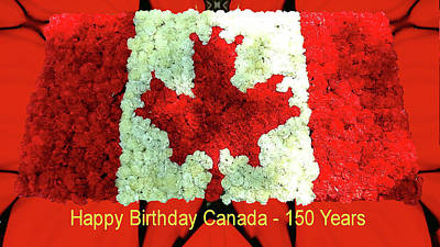 Digital Art - Canada 150 Years by Max DeBeeson