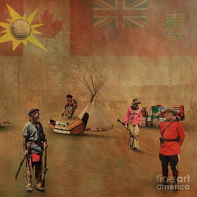 Digital Art - Canada 150 Years Old by Jim  Hatch