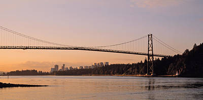Lions Gate Bridge Photograph - Canada, British Columbia, Vancouver by Panoramic Images