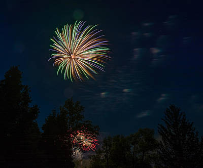 Skyrocket Photograph - Canada Day 2 by Steve Harrington
