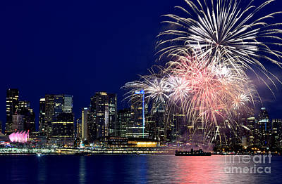 Photograph - Canada Day 2015 Vancouver Fireworks 3  by Terry Elniski