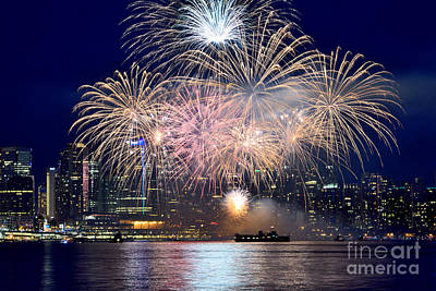 Photograph - Canada Day 2015 Vancouver Fireworks 4  by Terry Elniski