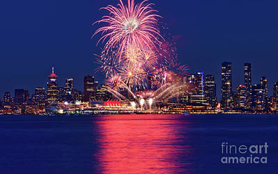 Photograph - Canada Day 2017 - Vancouver Fireworks Spectacular by Terry Elniski